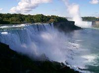 View of the falls from Niagara Falls, NY.