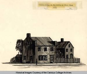 A sketch of the first building of Canisius College.
