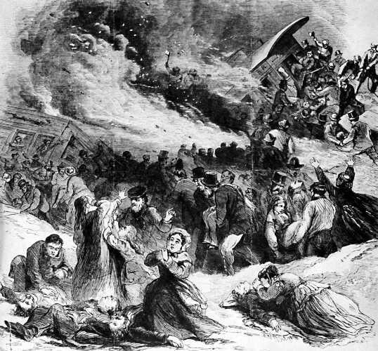 Sketch of Angola train wreck