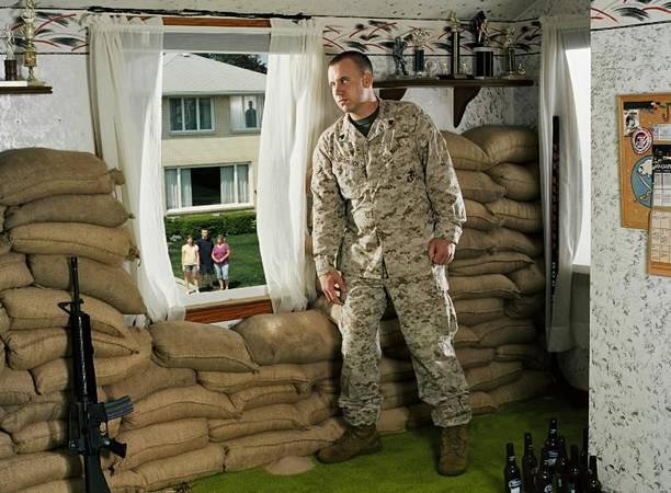Buffalo former Marine Jeff Gramlich in Karady staged photo