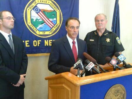 Erie County Executive Chris Collins, Sheriff Tim Howard and County Attorney Jeremy Colby
