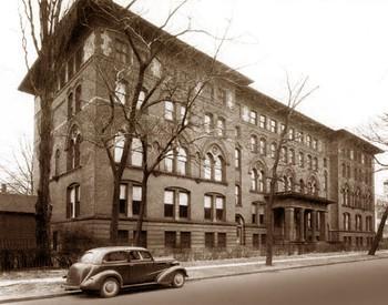 Former building on Ellicott Street