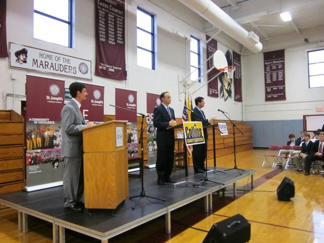 Erie County Executive candidates face off in last debate at St. Joe's High School, Kenmore, NY