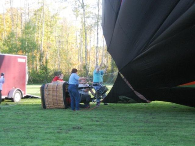 Getting balloon ready for ride