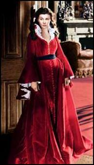 """Vivien Leigh as """"Scarlet"""", Gone with the Wind"""