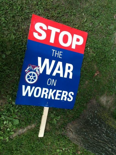 Occupy Buffalo protest sign