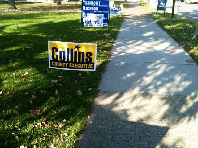 Campaign sign in Kenmore