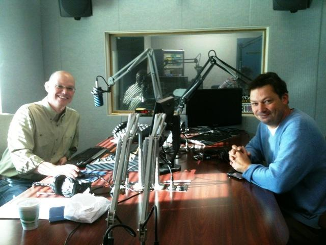 WBFO's Chris Jamele  with ArtVoice editor Geoff Kelly