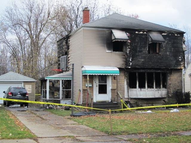 Scene of fatal fire at 254 Covington, West Seneca, NY