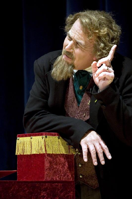 Mike Randall appears as Charles Dickens