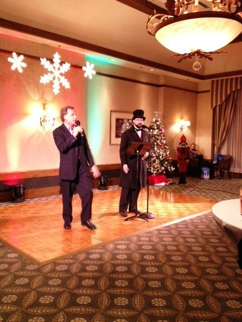 MusicalFare artistic and executive director Randal Krammer introduces entertainment at MusicalFare's recent holiday fundraiser at the Westwood Country Club in Amherst