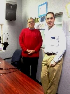 Buffalo News Suburban Editor Bruce Andriatch with WBFO's Mark