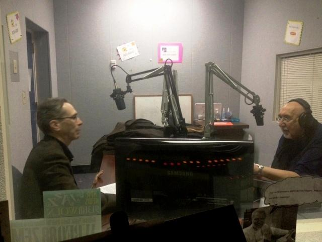 Anthony Chase & Jim Santella in the WBFO studio recording Theatre Talk