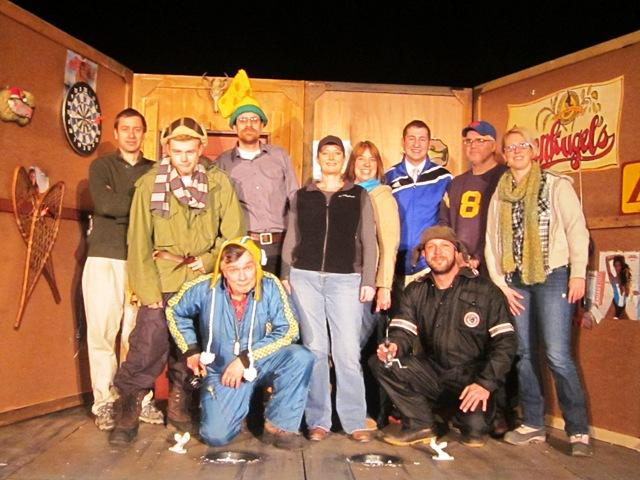 "Cast & crew of ""Guys on Ice"" at  Springville Center for the Arts"
