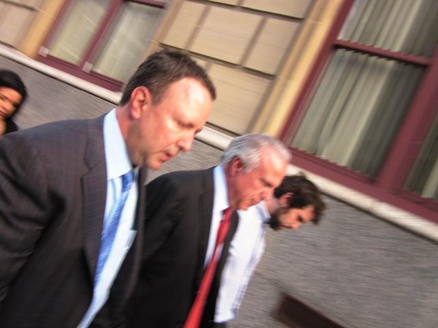 Dr. James Corasanti leaves Erie County Court Wednesday night after being found not guilty in the death of 18-year-old Alexandra Rice