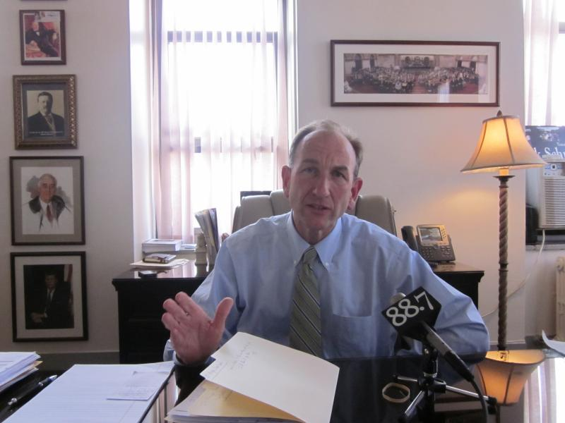 Comptroller Mark Schroeder hopes the withdrawal sends a message to JP Morgan Chase.