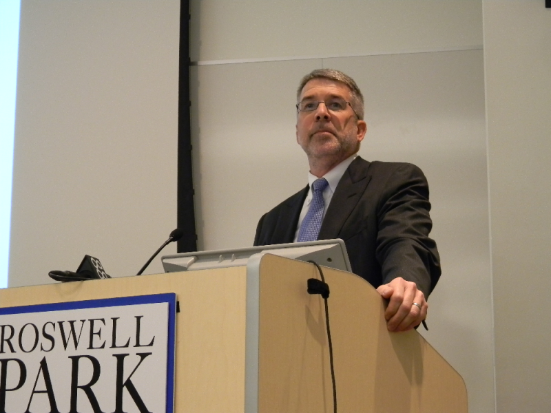 New York is losing biotech companies and jobs to other states, says Roswell Park official James Mohler.