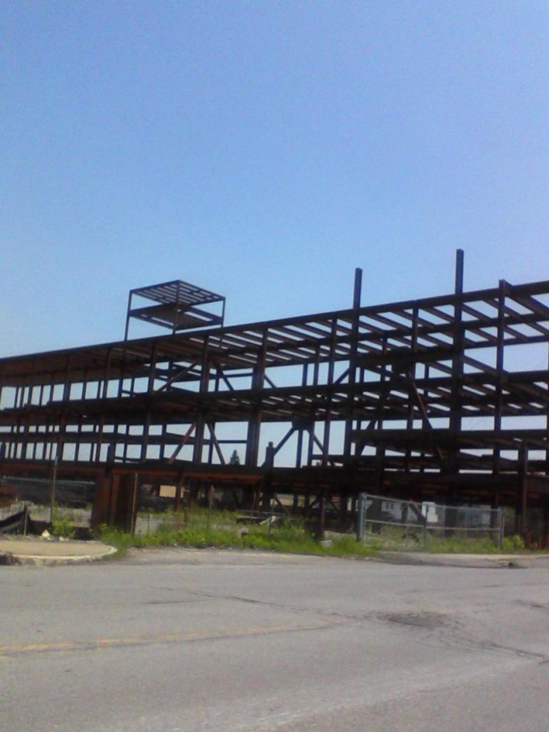 The long-standing steel frame of a larger downtown casino has now been removed.