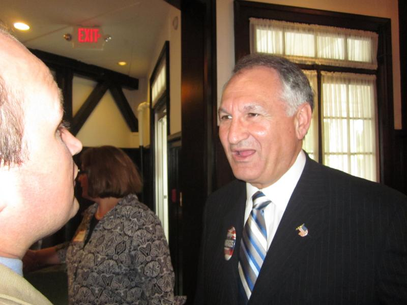 Nassau County Comptroller George Maragos met with voters at Tuesday night's event.