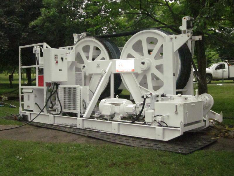 Tensioners that will keep wire in place at Goat Island