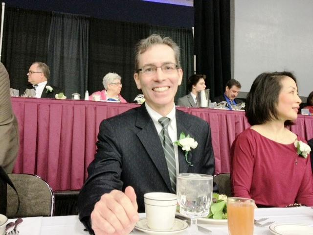 Anthony Chase at NFJC 2012 Community Leader awards in January where he was honored