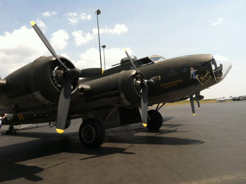 This B-17 was featured in the 1989 movie Memphis Belle.