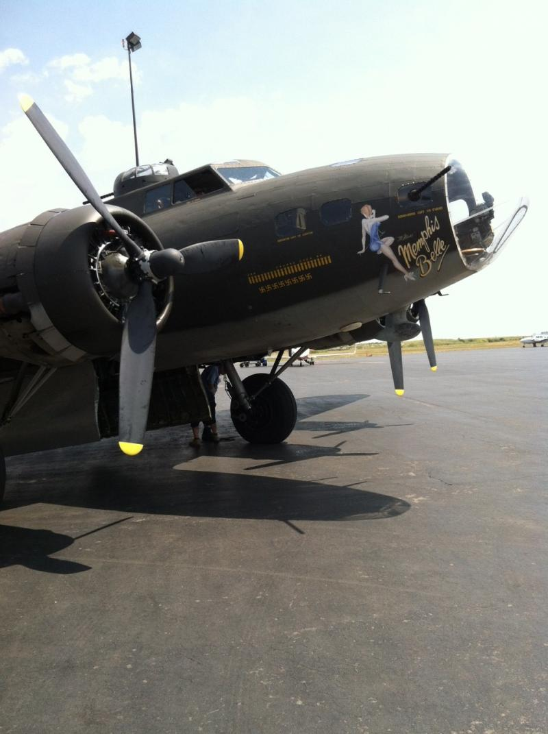 The Memphis Belle is a WW II B-17 bomber.