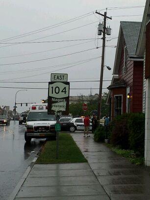 Third Street area where body was found in city of Niagara Falls, NY