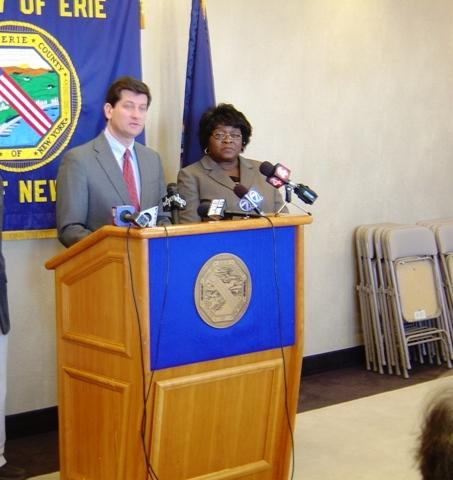 Erie County Executive Mark Poloncarz discussing the county's working poor in February 2012 discussing