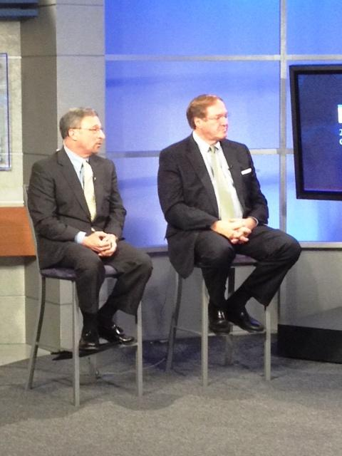 Carl Calabrese & Anthony Masiello at the WGRZ-TV studios for  post-debate analysis