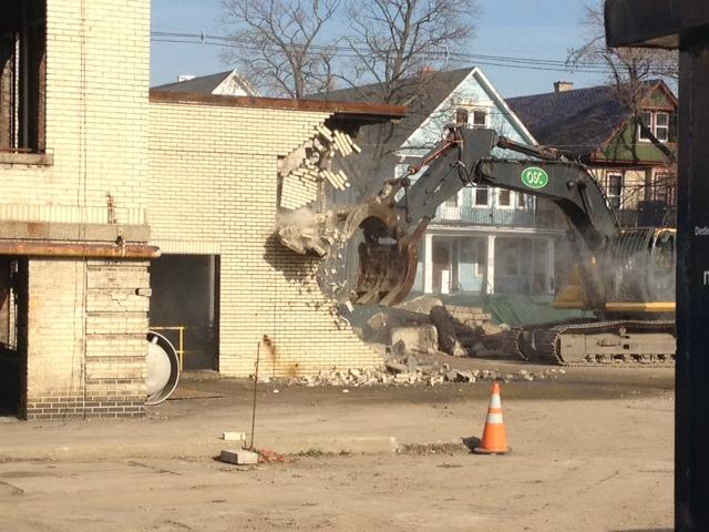 Demolition of Deaconess underway