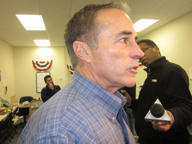 Chris Collins meets with reporters on day after his election win in the 27th Congressional District