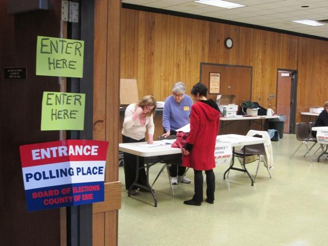 Polling place in Clarence, NY