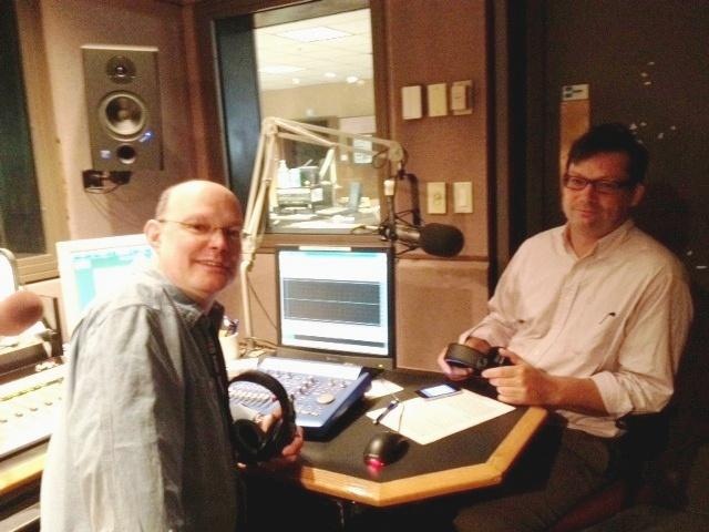 Chris Jamele & Artvoice editor Geoff Kelly