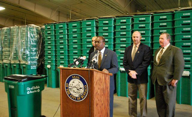 City's roll out of green recycle totes