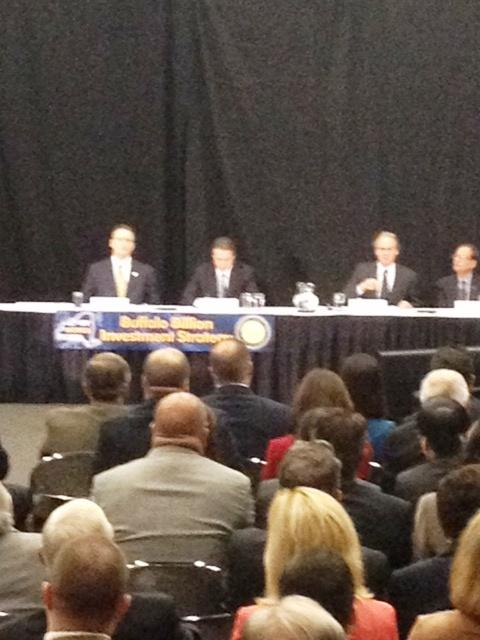 Governor Cuomo listens to WNYREDC investment plan