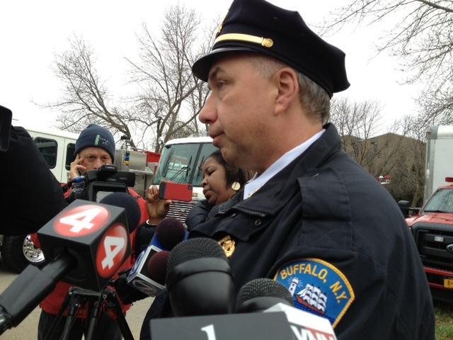Buffalo Police Commissioner Daniel Derenda updates reporters on fatal traffic stop