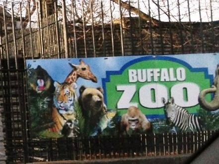 Buffalo Zoo enterance at Parkside Avenue
