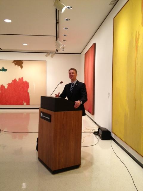 Janne Sirén, new director at Albright-Knox at a news conference inside the Gallery