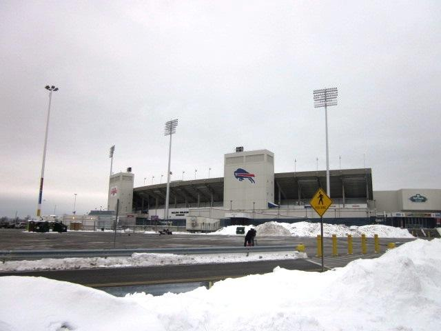 Outside Ralph Wilson Staduim, Orchard Park, NY