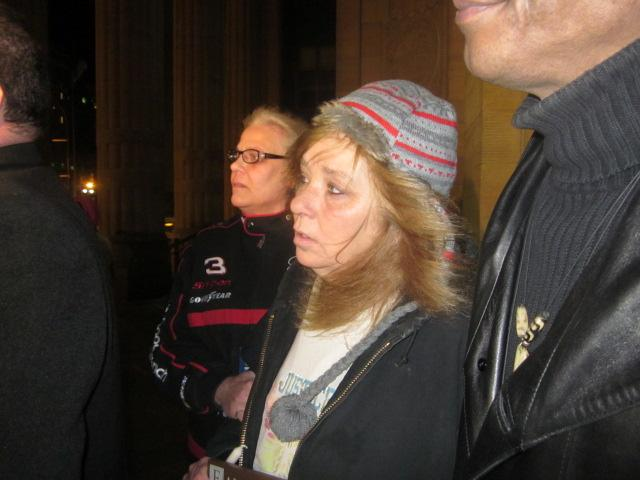 Amanda Wienchowski family gathers on steps of City Hall