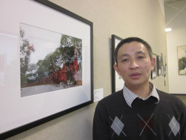 Burmese photographer and activist Law Eh Soe at Tapestry Charter School