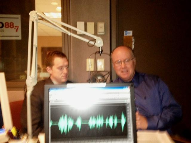 Buffalo News reporters Dan Herbeck & Charlie Specht in WBFO studio