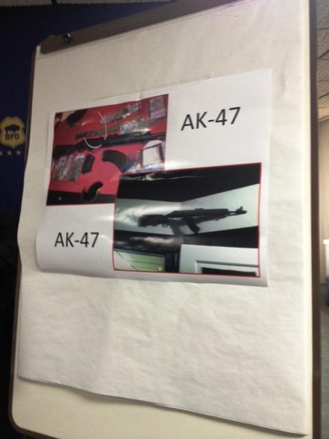 Photos of the AK-47 weapons recovered in raids