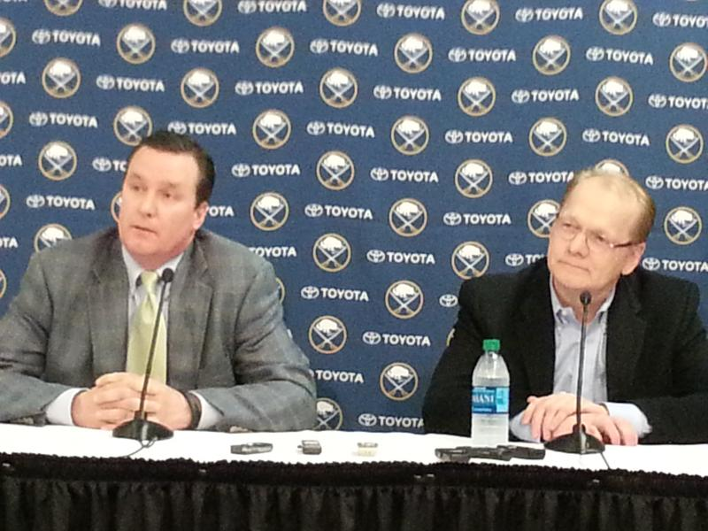 Sabres President Ted Black and GM Darcy Regier