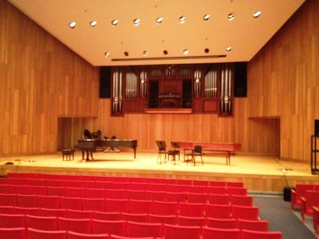 UB's Lippes, Slee Concert Hall at the North Campus