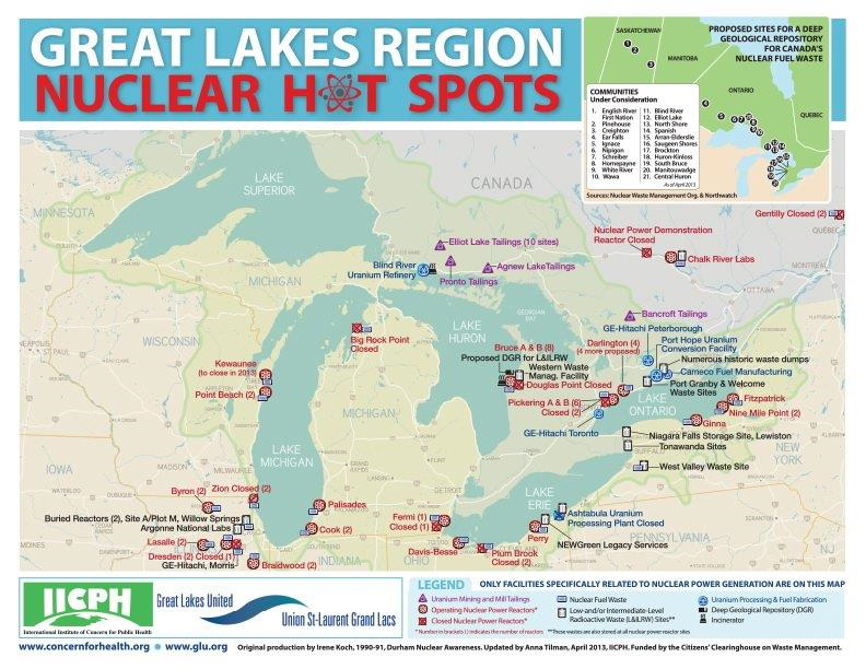 Nuclear Hot Spots map