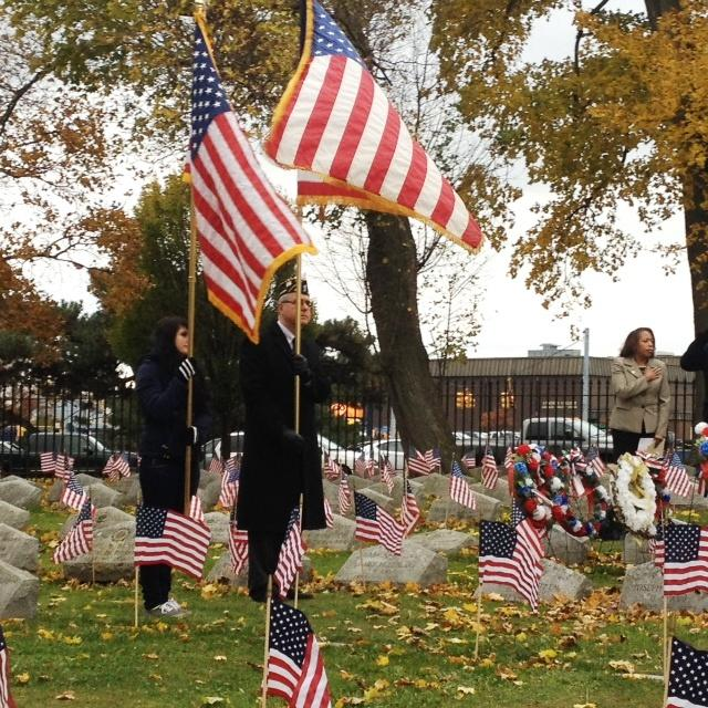Veterans Day ceremony at Forest Lawn