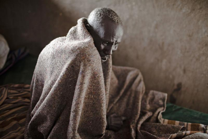 Old man. Lankien, South Sudan