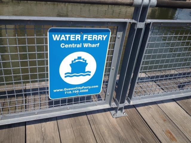 Canalside Water Ferry sign